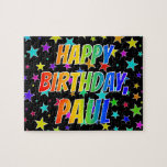 "[ Thumbnail: ""Paul"" First Name, Fun ""Happy Birthday"" Jigsaw Puzzle ]"