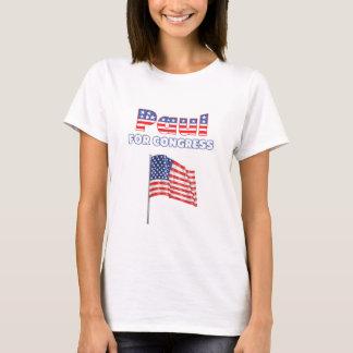 Paul for Congress Patriotic American Flag T-Shirt