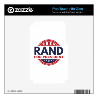 Paul For President iPod Touch 4G Decal