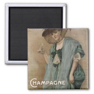 Paul Forestier Champagne  Add 2 Inch Square Magnet