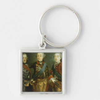 Paul, Frederick II and Gustav Adolph of Sweden Keychain