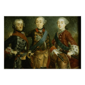 Paul, Frederick II and Gustav Adolph of Sweden Poster