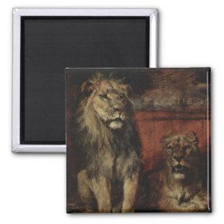 Paul Friedrich Meyerheim - Lions Fridge Magnets