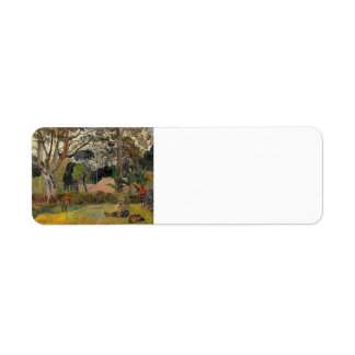Paul Gauguin- A big tree Custom Return Address Labels