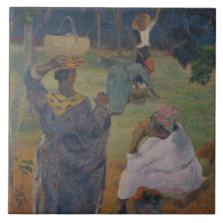 Paul Gauguin - Among the Mangoes at Martinique Ceramic Tile