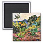 Paul Gauguin art: Martinique Landscape 2 Inch Square Magnet