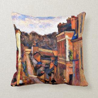 Paul Gauguin art: Rue Jouvenet, Rouen Throw Pillows