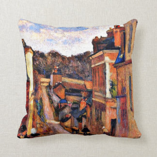 Paul Gauguin art: Rue Jouvenet, Rouen Throw Pillow