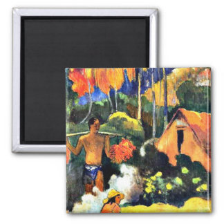 Paul Gauguin art: The Moment of Truth II 2 Inch Square Magnet