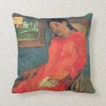 paul gauguin Art Throw Pillows