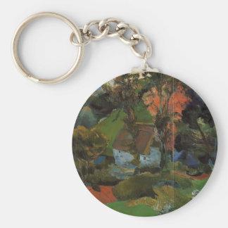 Paul Gauguin- Aven running through Pont-Aven Keychains