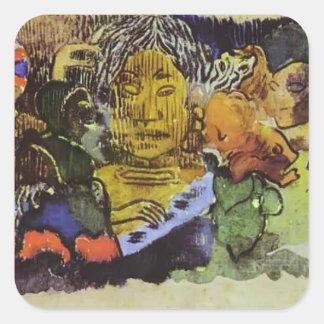 Paul Gauguin- Barbarian music Stickers
