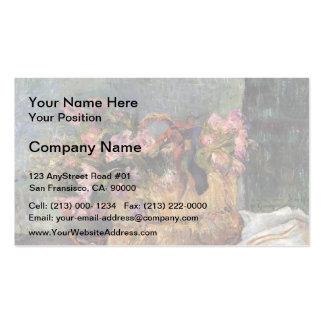 Paul Gauguin- Basket of flowers Business Card Templates