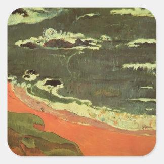 Paul Gauguin- Beach at Le Pouldu Stickers