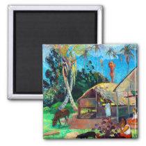 Paul Gauguin Black Pigs Magnet