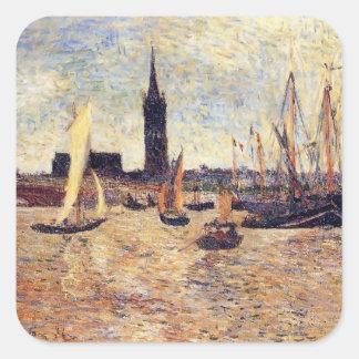 Paul Gauguin- Bordeaux Harbour Square Stickers