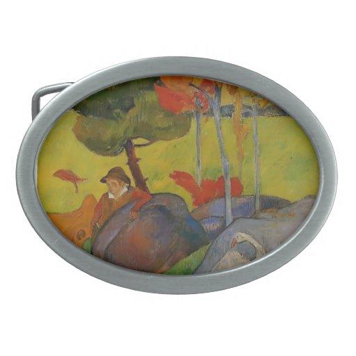 Paul Gauguin- Breton Boy in a Landscape with Goose Oval Belt Buckle