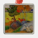 Paul Gauguin- Breton Boy in a Landscape with Goose Christmas Tree Ornament