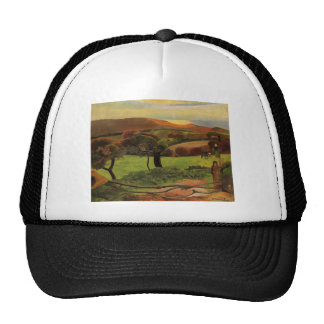 Paul Gauguin- Breton Landscape - Fields by the Sea Hat