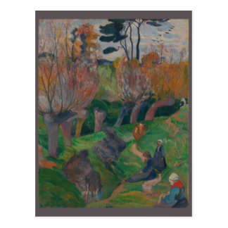 Paul Gauguin Brittany Landscape with Cows Postcard