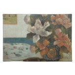 Paul Gauguin, Chinese Peonies and Mandolin Cloth Place Mat