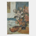 Paul Gauguin, Chinese Peonies and Mandolin Kitchen Towels