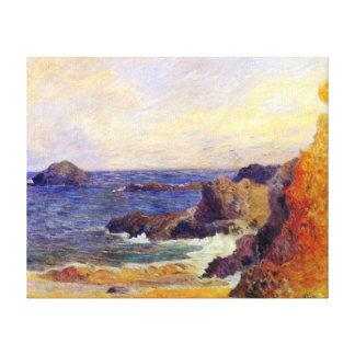 Paul Gauguin - costa rocosa Lona Envuelta Para Galerias