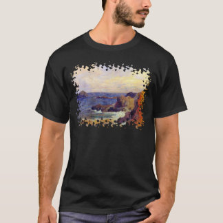 Paul Gauguin - costa rocosa - puesta del sol de la Playera