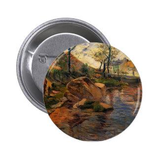 Paul Gauguin- Cove opposite Pont-Aven Harbor Pinback Buttons