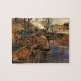 Paul Gauguin- Cove opposite Pont-Aven Harbor Puzzles