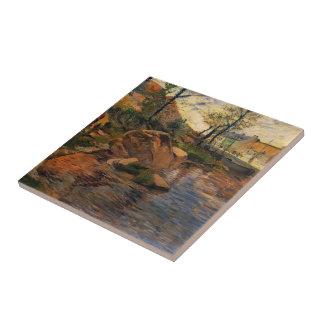 Paul Gauguin- Cove opposite Pont-Aven Harbor Tiles