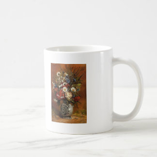 Paul Gauguin- Daisies and peonies in blue vase Coffee Mug