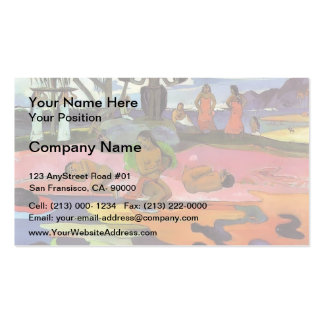 Paul Gauguin- Day of the Gods Business Card Template