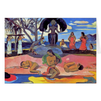 Paul Gauguin - Day of the Gods - Fine Art Painting Card