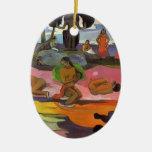 Paul Gauguin- Day of the Gods Christmas Tree Ornament