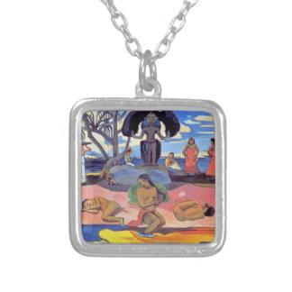 Paul Gauguin - día de dioses Colgante Cuadrado
