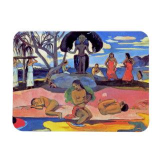 Paul Gauguin - día de dioses - pintura de la bella Iman Flexible