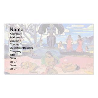 Paul Gauguin - día de dioses - pintura de la bella Tarjetas De Visita