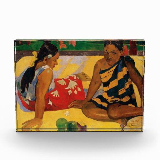 Paul Gauguin dos mujeres de vintage de Tahití