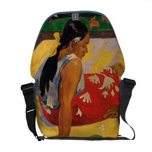 Paul Gauguin dos mujeres de vintage de Tahití Bolsa De Mensajería