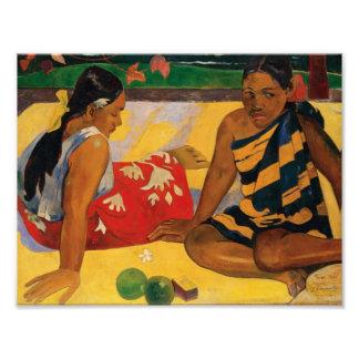 Paul Gauguin dos mujeres de vintage de Tahití Fotografía