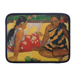 Paul Gauguin dos mujeres de vintage de Tahití Funda MacBook