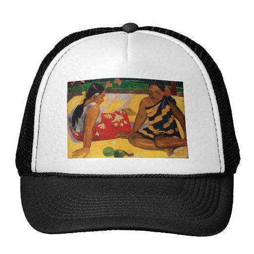 Paul Gauguin dos mujeres de vintage de Tahití Gorras De Camionero