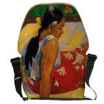 Paul Gauguin dos mujeres de vintage de Tahití Para Bolsa Messenger