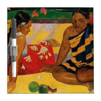 Paul Gauguin dos mujeres de vintage de Tahití Pizarra Blanca