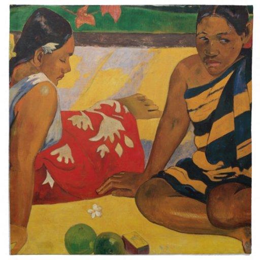Paul Gauguin dos mujeres de vintage de Tahití Servilleta De Papel