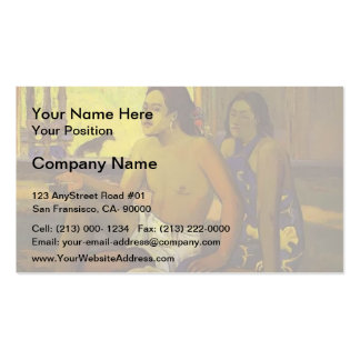 Paul Gauguin- Eiaha Ohipa or Tahitians in a Room Double-Sided Standard Business Cards (Pack Of 100)
