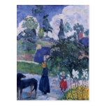 Paul Gauguin- entre los lillies Tarjetas Postales