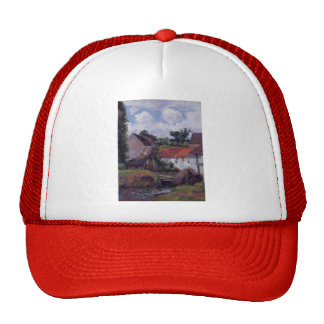 Paul Gauguin- Farm in Osny Mesh Hat