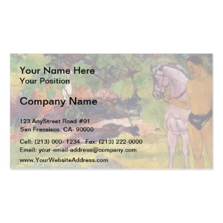 Paul Gauguin- In the Vanilla Grove, Man and Horse Business Cards